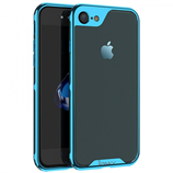 Blue Luxury Electroplated PC Frame Transparent iPhone Case